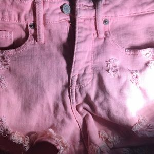 Pink high rise shorts